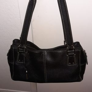 Fossil black pebble leather hand bag